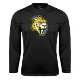 Performance Black Longsleeve Shirt-Sabercat Head