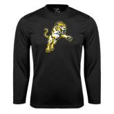 Performance Black Longsleeve Shirt-Sabercat Lunge