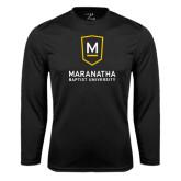 Performance Black Longsleeve Shirt-Maranatha Baptist University