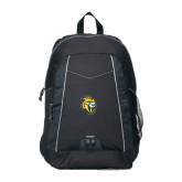 Impulse Black Backpack-Sabercat Head