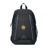 Impulse Black Backpack-Sabercat Head