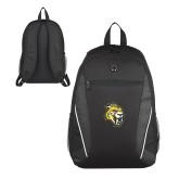 Atlas Black Computer Backpack-Sabercat Head
