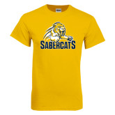Gold T Shirt-Sabercat Swoosh