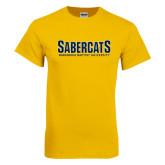 Gold T Shirt-Sabercats Maranatha Word Mark