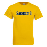 Gold T Shirt-Sabercats Word Mark