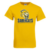 Gold T Shirt-Sabercat Stacked