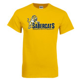 Gold T Shirt-Sabercats With Lunge