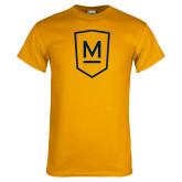 Gold T Shirt-Maranatha Baptist University Shield