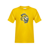 Youth Gold T Shirt-Sabercat Head