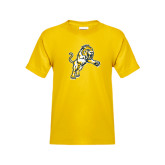 Youth Gold T Shirt-Sabercat Lunge