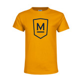 Youth Gold T Shirt-Maranatha Baptist University Shield