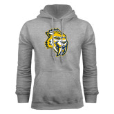 Grey Fleece Hoodie-Sabercat Head