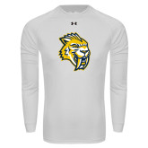 Under Armour White Long Sleeve Tech Tee-Sabercat Head