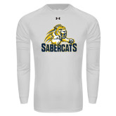 Under Armour White Long Sleeve Tech Tee-Sabercat Swoosh
