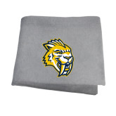 Grey Sweatshirt Blanket-Sabercat Head