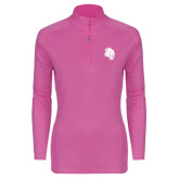 Ladies Syntrel Interlock Raspberry 1/4 Zip-Sabercat Head