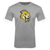 Grey T Shirt-Sabercat Head