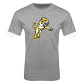 Grey T Shirt-Sabercat Lunge