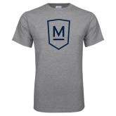 Grey T Shirt-Maranatha Baptist University Shield
