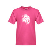 Youth Fuchsia T Shirt-Sabercat Head