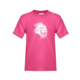 Youth Cyber Pink T Shirt-Sabercat Head