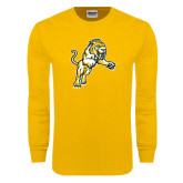 Gold Long Sleeve T Shirt-Sabercat Lunge