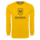 Gold Long Sleeve T Shirt-Maranatha Baptist University