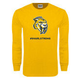 Gold Long Sleeve T Shirt-Snarl Strong