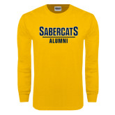 Gold Long Sleeve T Shirt-Alumni