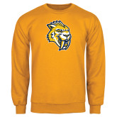 Gold Fleece Crew-Sabercat Head