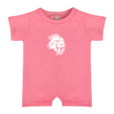 Bubble Gum Pink Infant Romper-Sabercat Head