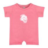Bubble Gum Pink Infant Romper-Sabercat Head