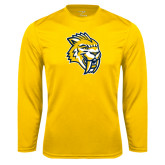 Syntrel Performance Gold Longsleeve Shirt-Sabercat Head
