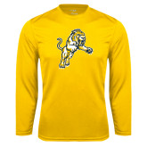 Performance Gold Longsleeve Shirt-Sabercat Lunge