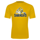 Syntrel Performance Gold Tee-Sabercat Swoosh
