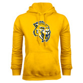 Gold Fleece Hoodie-Sabercat Head