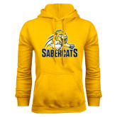 Gold Fleece Hood-Sabercat Swoosh