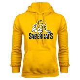 Gold Fleece Hoodie-Sabercat Swoosh