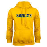 Gold Fleece Hood-Sabercats Maranatha Word Mark