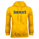 Gold Fleece Hood-Sabercats Word Mark