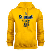 Gold Fleece Hood-Basketball Design