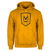 Gold Fleece Hoodie-Maranatha Baptist University Shield