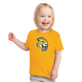 Toddler Gold T Shirt-Sabercat Head