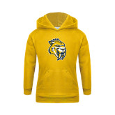 Youth Gold Fleece Hood-Sabercat Head