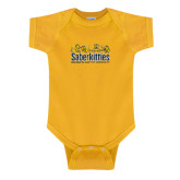 Gold Infant Onesie-SaberKitties
