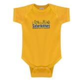 Gold Infant Onesie-SaberKitties