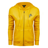 ENZA Ladies Gold Fleece Full Zip Hoodie-Sabercat Lunge