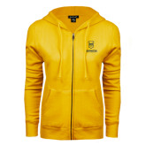 ENZA Ladies Gold Fleece Full Zip Hoodie-Maranatha Baptist University