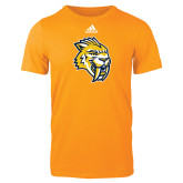 Adidas Gold Logo T Shirt-Sabercat Head