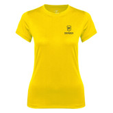 Ladies Syntrel Performance Gold Tee-Maranatha Baptist University